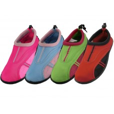 "S1170L-A Wholesale Women's"" Wave"" Water Shoes ( Asst. Blue. Green. Red And Fuschia ) *Special Price"