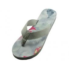 S1191-L - Wholesale Women's Floral Flip Flops (Closeout $1.25/Pr. Case $62.50)