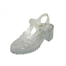S123L - Wholesale Women's High Heel Jelly Sandals (Closeout $1.00/Pr Case $24.00)