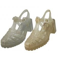 S123L-GS - Wholesale Women's High Heel Jelly Sandals (Closeout $1.00/Pr Case $24.00)