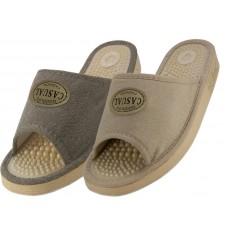 S1707 - Wholesale Women's Open Toes Massage Slippers ( *Asst. Gray & Beige )