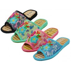 "S1909 - Wholesale Women's ""EasyUSA"" Embroidered Slipper (Close Out $1.25/Pr. Case $60.00)"