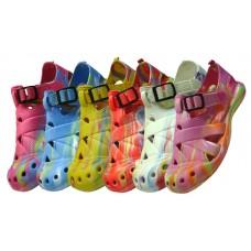 S2112 - Wholesale Women's Tie Dyed Velcro Sandals ( *Asst. Color )