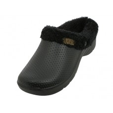 "S2380L-BB - Wholesale Women's ""EasyUSa"" Cotton Terry Lining Insole Soft Clogs  *J ( *Black color )"