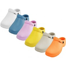 "S2390L-A- Wholesale Women's "" Sport "" Close Toe Rubber Nursing Clogs ( *Asst. Light. Color )"
