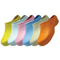 S2390L-A- Wholesale Women's Close Toe Rubber Nursing Shoes ( *Asst. Light. Color )