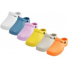 S2390L-A- Wholesale Women's Close Toe Rubber Nursing Shoes ( *Asst. Light. Color )