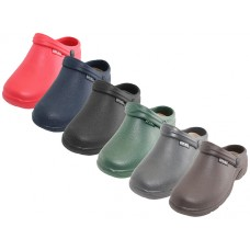 "S2390L-D Wholesale Women's "" Sport "" Close Toe Rubber Nursing Clogs ( *Asst. Dark Color)"