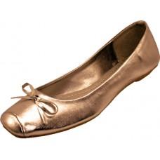 S2500L-Z - Wholesale Women's Square Toe Ballerina Shoes ( *metallic Bronze ) *Closeout $2.00/Prs Case $36.00