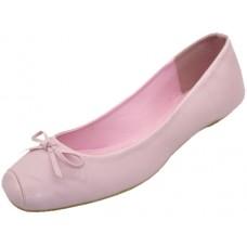 S2500L-P Wholesale Women's Square Toe Ballerina Shoes ( *Pink Color ) *Closeout $2.00/Prs. Case $36.00