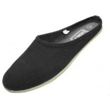 S262L-B Wholesale Women's Mule Slip On Canvas Shoes ( *Black Color ) *Close Out $1.00/Pr Case $36.00 *Last Case