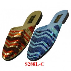 S288L-C Wholesale EasyUSA Women's Hand Sequin Slides ( *Asst. Color )