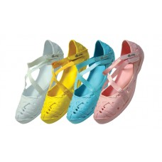 S2920L-A Wholesale Women's Light Weight Ballerina Shoes ( *Asst. Pink, White Turquoise & Yellow )