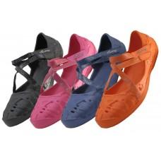 S2920L-D Wholesale Women's Light Weight Balllerina Shoes ( *Asst. Orange, Black, Fuchsia & Navy ) )