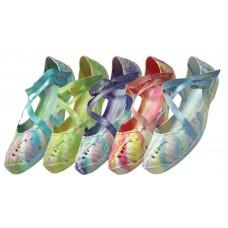 S2940L- Wholesale Women's Tie-Dye Criss-Cross Shoe ( *Asst. Light Color )