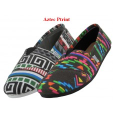 S308L-AZTEC Wholesale Women's Slip On Casual Canvas Shoe ( *Asst. Aztec Printed ) *Last Case