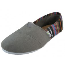 "S308L-Gray wholesale Women's ""EasyUSa"" The Most Comfortable Slip On Casual Canvas Shoe ( *Gray Color )"