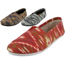 "S308L-IKAT Wholesale Women's ""EasyUSA"" The Most Comfortable Slip On Casual Canvas Shoe ( *Asst. Ikat Printed ) *Last 3 ase"