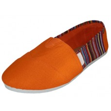 S308L-A Wholesale Women's Slip On Canvas Shoes ( *Orange Color )