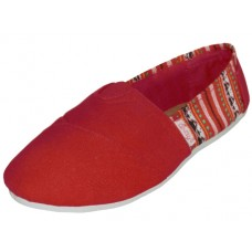"S308L-R Wholesale Women's ""EasyUSA"" The Most Comfortable Slip On Casual Canvas Shoe ( *Red Color )"