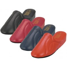 S320L-D EasyUSA Women's Close Toe Soft Vinyl Upper House Slippers ( *Asst. Red, Burgandy, Navy & Black )