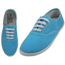 S324L-Azul Wholesale Women's Lace Up Casual Canvas Shoes ( *Azul Color )