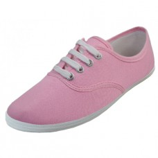 S324L-Baby Pink Wholesale Women's Lace Up Casual Canvas Shoes ( *Baby Pink Color )