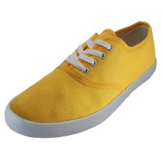 "S324L-Y Wholesale Women's ""EasyUSA"" Casual Canvas Lace Up Shoes (*Bright Yellow Color )"