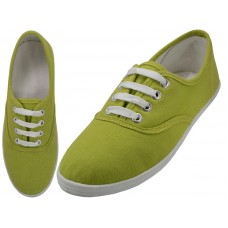 S324L-Citronelle Wholesale Women's Lace Up Casual Canvas Shoes ( *Citronelle Color )