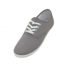 "S324L-Gray Wholesale Women's ""EasyUSA"" Casual Canvas Lace Up Shoes ( *Gray Color )"