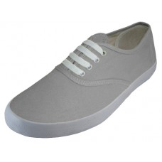 S324L-Gray Wholesale Women's Lace Up Casual Canvas Shoes ( *Gray Color )