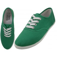 S324L-Holly Green - Wholesale Women's Lace Up Casual Canvas  Shoes ( *Holly Green Color )