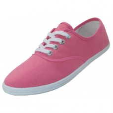 "S324L-Pink Wholesale Women's ""EasyUSA"" Casual Canvas Lace Up Shoes ( *Pink Color )"
