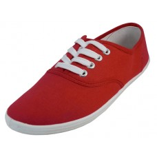 "S324L-R Wholesale Women's ""EasyUSA"" Casual Canvas Lace Up Shoes ( *Red Color )"