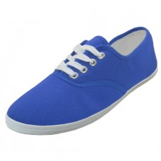 "S324L-Royal Blue Wholesale Women's ""EasyUSA"" Casual Canvas Lace Up Shoes ( *Royal Blue Color )"