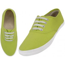 "S324L-Wasabi Wholesale Women's ""EasyUSA"" Casual Canvas Lace Up Shoes ( *Wasabi Color )"