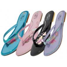 S3300L-A Wholesale Women's Sequin UpperSandalss ( *Asst. Color )