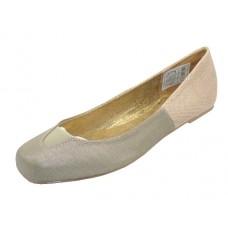S3500L-G Wholesale Women's Square Toe Ballerina Shoes ( *Gold Color ) *Closeout $2.00/Pr. Case $36.00