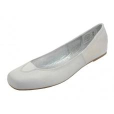 S3500L-W Wholesale Women's Square Toe Ballet Flats ( *White Clor ) *Closeout $2.00/Pr. Case $36.00