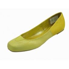 S3500L-Y Wholesale Women's Square Toe Ballet Flats ( *Yellow Color ) *Closeout $1.75/Pr. Case $27.00 *Last 2 Cases