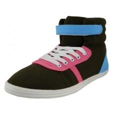 S424L - Wholesale Women's High Top Canvas Lace-up Sneakers *Close Out$2.50/Pr Case $60.00