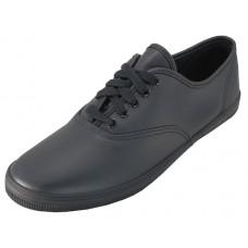 S444L-B Wholesale Women's Leather Shoe With Shoelace ( *Black ) *Last Case