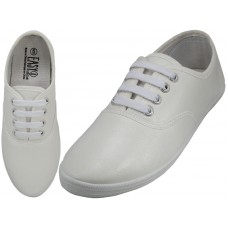 "S446L-W - Wholesale Women's ""EasyUSA"" Casual Soft Action Leather Upper Casual Shoes  ( *White Color )"