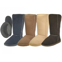 "S5510L-A - Wholesale Women's 11.5"" Inches Height Comfortable Flannel Lining Winter Boots ( *Asst. Gray, Brown, Tan & Beige )"
