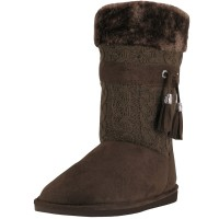 S5570L - Wholesale 11 Inches Shaft Women's Micro Fiber Knitts Faux Fur Lining Boots