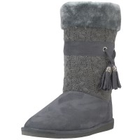 S5570L-G Wholesale Women's Micro Fiber Knitts Faux Fur Lining Winter Boots With Tassel ( *Gray Color )