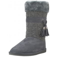 S5570L-G Wholesale Women's Comfortable Micro Fiber Knitts Faux Fur Lining Winter Boots With Tassel ( *Gray Color )