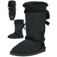 S5590L - Wholesale 11 Inches Shaft Women's Micro Fiber Faux Fur Lining Boots