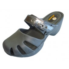 S5800L-Pewter Wholesale Women's Wedge Clogs ( *Pewter Color )