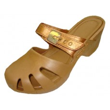 S5800L-G Wholesale Lady Wedge Clogs ( *Gold Color )